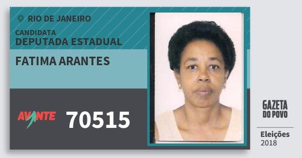 Santinho Fatima Arantes 70515 (AVANTE) Deputada Estadual | Rio de Janeiro | Eleições 2018