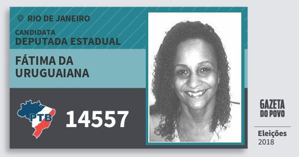 Santinho Fátima da Uruguaiana 14557 (PTB) Deputada Estadual | Rio de Janeiro | Eleições 2018