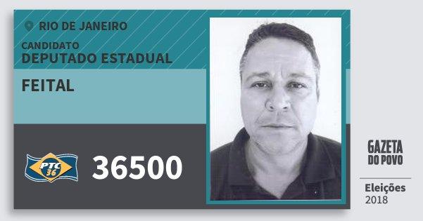Santinho Feital 36500 (PTC) Deputado Estadual | Rio de Janeiro | Eleições 2018