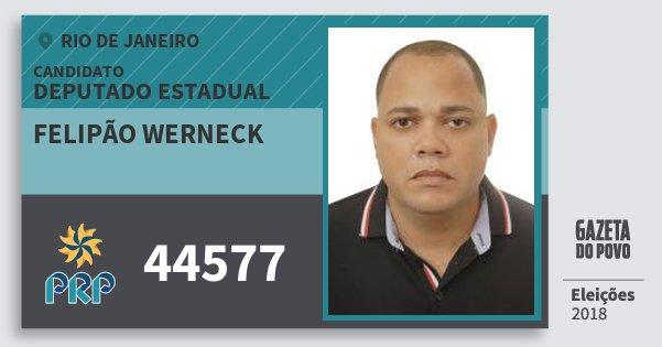 Santinho Felipão Werneck 44577 (PRP) Deputado Estadual | Rio de Janeiro | Eleições 2018