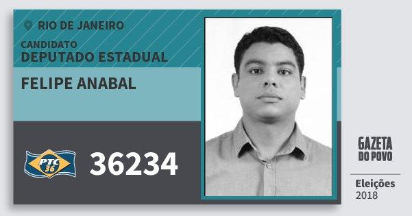 Santinho Felipe Anabal 36234 (PTC) Deputado Estadual | Rio de Janeiro | Eleições 2018