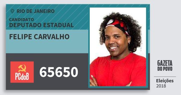 Santinho Felipe Carvalho 65650 (PC do B) Deputado Estadual | Rio de Janeiro | Eleições 2018