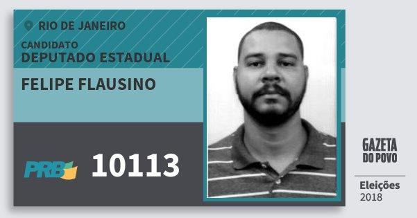 Santinho Felipe Flausino 10113 (PRB) Deputado Estadual | Rio de Janeiro | Eleições 2018