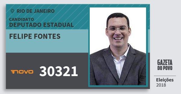 Santinho Felipe Fontes 30321 (NOVO) Deputado Estadual | Rio de Janeiro | Eleições 2018