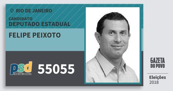 Santinho Felipe Peixoto 55055 (PSD) Deputado Estadual | Rio de Janeiro | Eleições 2018