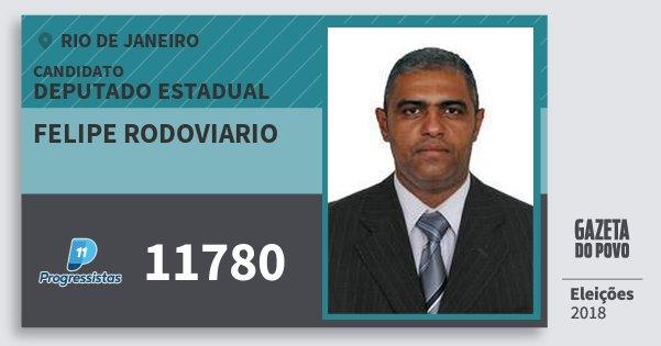 Santinho Felipe Rodoviario 11780 (PP) Deputado Estadual | Rio de Janeiro | Eleições 2018