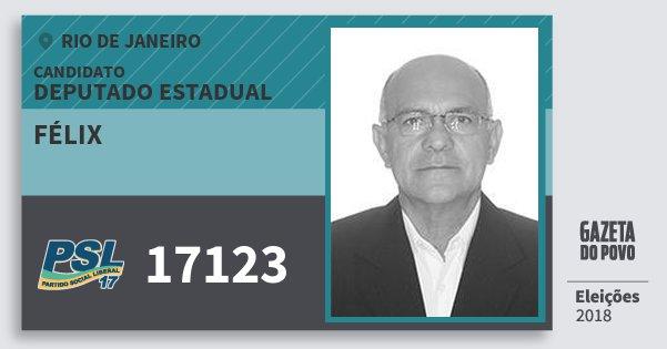 Santinho Félix 17123 (PSL) Deputado Estadual | Rio de Janeiro | Eleições 2018