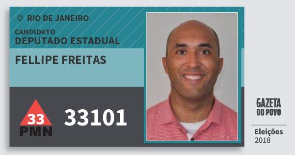 Santinho Fellipe Freitas 33101 (PMN) Deputado Estadual   Rio de Janeiro   Eleições 2018
