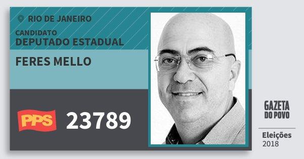 Santinho Feres Mello 23789 (PPS) Deputado Estadual | Rio de Janeiro | Eleições 2018