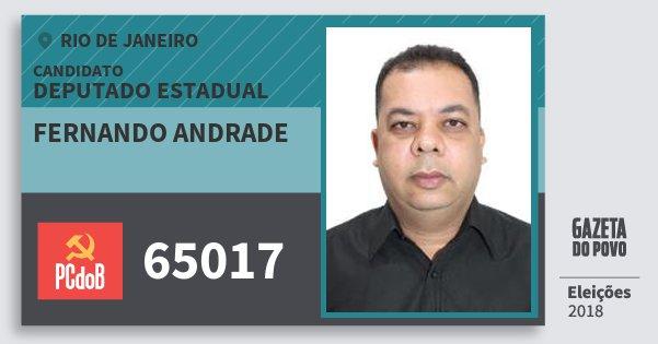 Santinho Fernando Andrade 65017 (PC do B) Deputado Estadual | Rio de Janeiro | Eleições 2018
