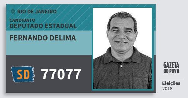Santinho Fernando Delima 77077 (SOLIDARIEDADE) Deputado Estadual | Rio de Janeiro | Eleições 2018