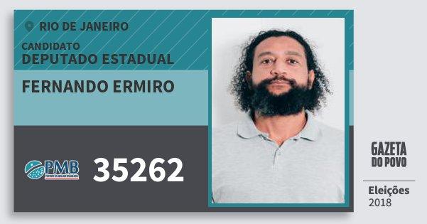 Santinho Fernando Ermiro 35262 (PMB) Deputado Estadual | Rio de Janeiro | Eleições 2018