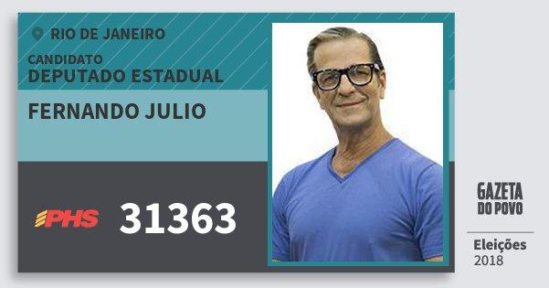 Santinho Fernando Julio 31363 (PHS) Deputado Estadual | Rio de Janeiro | Eleições 2018