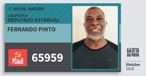 Santinho Fernando Pinto 65959 (PC do B) Deputado Estadual | Rio de Janeiro | Eleições 2018