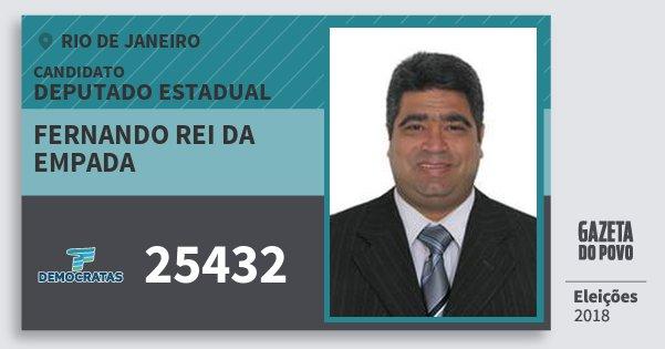 Santinho Fernando Rei da Empada 25432 (DEM) Deputado Estadual | Rio de Janeiro | Eleições 2018