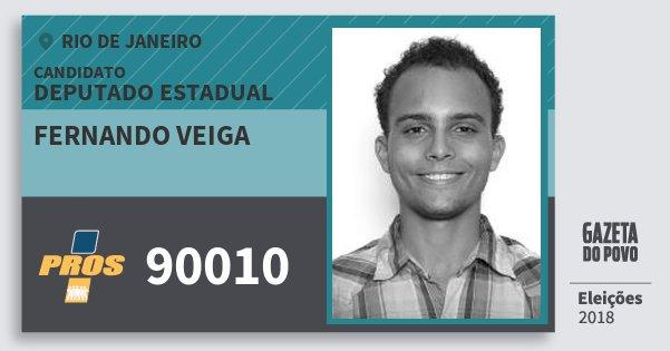 Santinho Fernando Veiga 90010 (PROS) Deputado Estadual | Rio de Janeiro | Eleições 2018