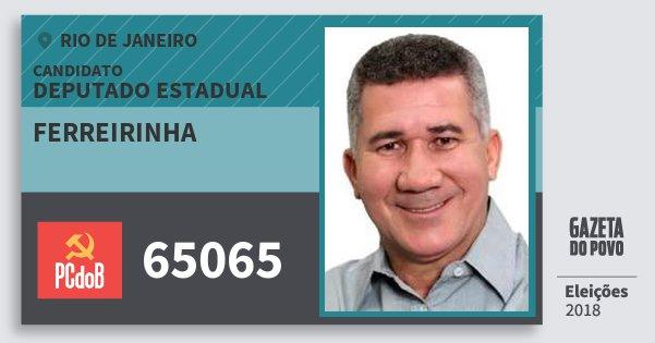 Santinho Ferreirinha 65065 (PC do B) Deputado Estadual | Rio de Janeiro | Eleições 2018