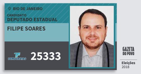 Santinho Filipe Soares 25333 (DEM) Deputado Estadual | Rio de Janeiro | Eleições 2018
