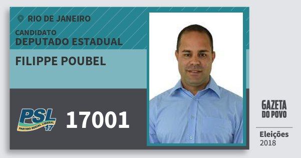 Santinho Filippe Poubel 17001 (PSL) Deputado Estadual | Rio de Janeiro | Eleições 2018