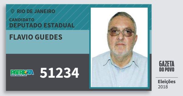 Santinho Flavio Guedes 51234 (PATRI) Deputado Estadual | Rio de Janeiro | Eleições 2018