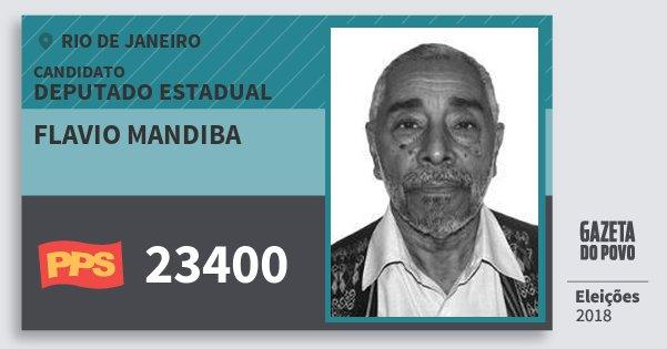 Santinho Flavio Mandiba 23400 (PPS) Deputado Estadual | Rio de Janeiro | Eleições 2018