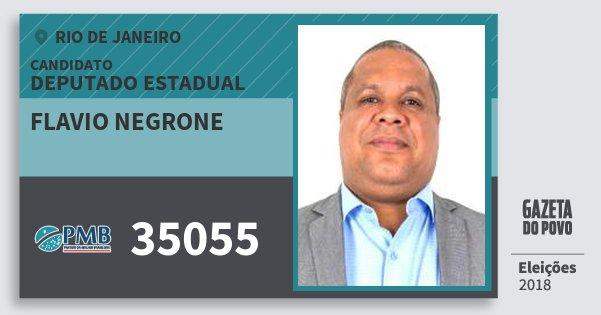 Santinho Flavio Negrone 35055 (PMB) Deputado Estadual | Rio de Janeiro | Eleições 2018