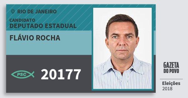 Santinho Flávio Rocha 20177 (PSC) Deputado Estadual | Rio de Janeiro | Eleições 2018