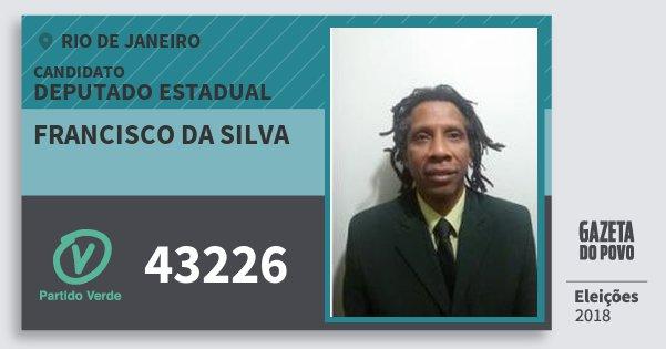 Santinho Francisco da Silva 43226 (PV) Deputado Estadual | Rio de Janeiro | Eleições 2018