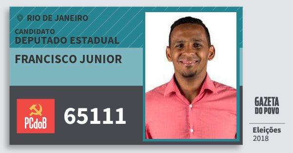 Santinho Francisco Junior 65111 (PC do B) Deputado Estadual | Rio de Janeiro | Eleições 2018
