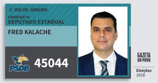 Santinho Fred Kalache 45044 (PSDB) Deputado Estadual | Rio de Janeiro | Eleições 2018
