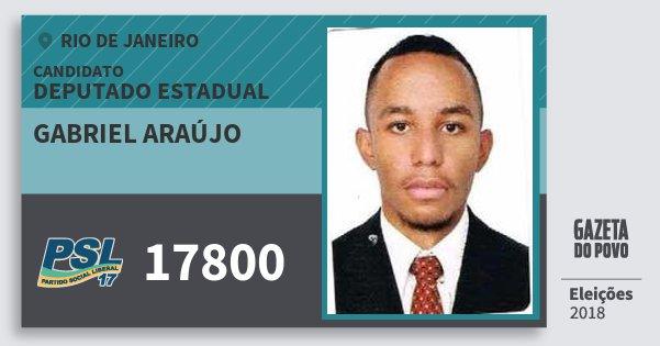 Santinho Gabriel Araújo 17800 (PSL) Deputado Estadual | Rio de Janeiro | Eleições 2018