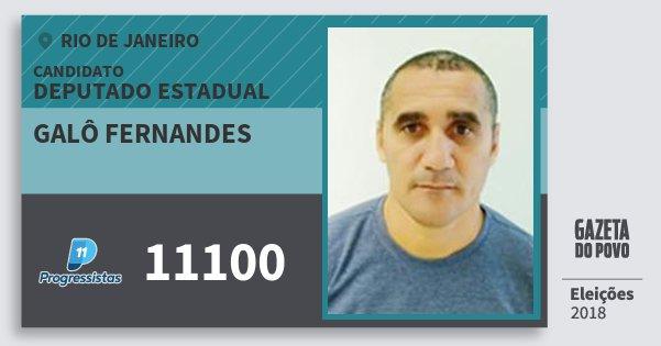 Santinho Galô Fernandes 11100 (PP) Deputado Estadual | Rio de Janeiro | Eleições 2018