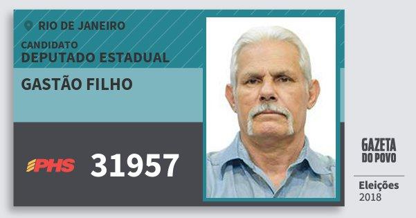 Santinho Gastão Filho 31957 (PHS) Deputado Estadual | Rio de Janeiro | Eleições 2018