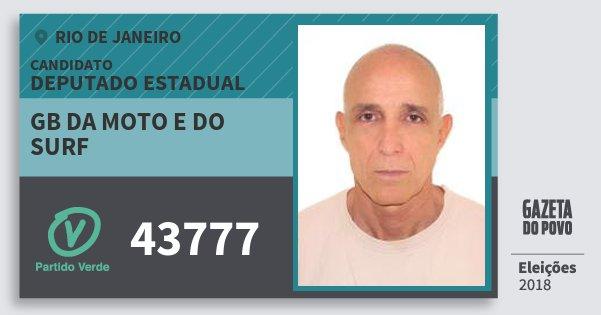 Santinho Gb da Moto e do Surf 43777 (PV) Deputado Estadual | Rio de Janeiro | Eleições 2018
