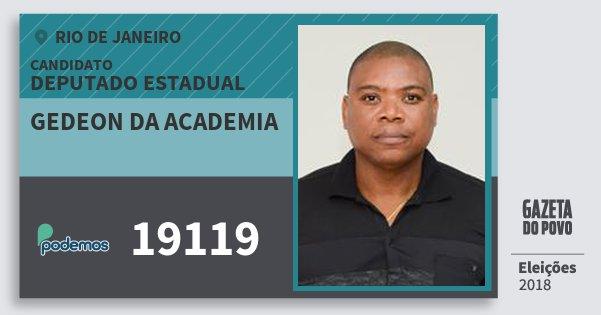 Santinho Gedeon da Academia 19119 (PODE) Deputado Estadual | Rio de Janeiro | Eleições 2018