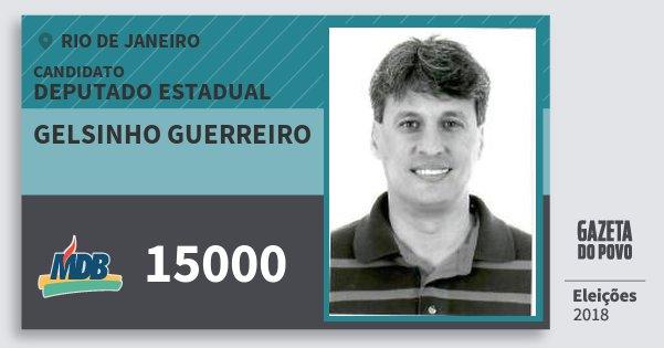 Santinho Gelsinho Guerreiro 15000 (MDB) Deputado Estadual | Rio de Janeiro | Eleições 2018
