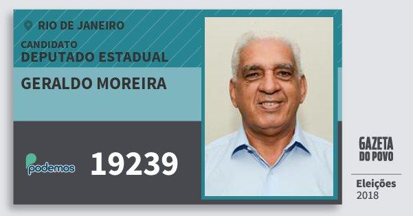 Santinho Geraldo Moreira 19239 (PODE) Deputado Estadual | Rio de Janeiro | Eleições 2018