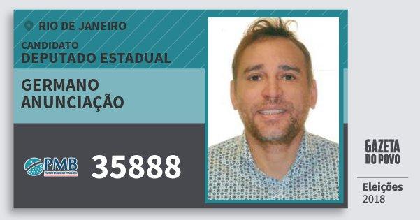 Santinho Germano Anunciação 35888 (PMB) Deputado Estadual | Rio de Janeiro | Eleições 2018