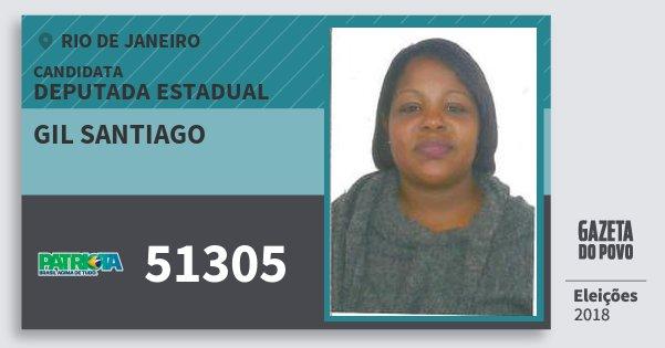 Santinho Gil Santiago 51305 (PATRI) Deputada Estadual | Rio de Janeiro | Eleições 2018