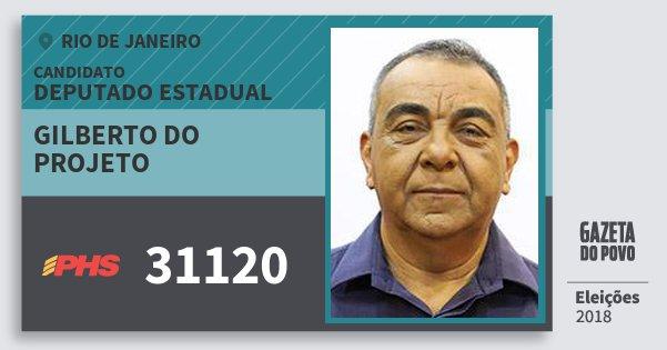 Santinho Gilberto do Projeto 31120 (PHS) Deputado Estadual | Rio de Janeiro | Eleições 2018