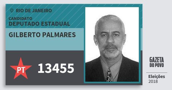 Santinho Gilberto Palmares 13455 (PT) Deputado Estadual | Rio de Janeiro | Eleições 2018
