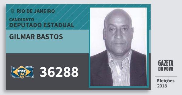 Santinho Gilmar Bastos 36288 (PTC) Deputado Estadual | Rio de Janeiro | Eleições 2018