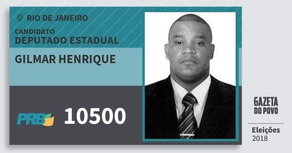 Santinho Gilmar Henrique 10500 (PRB) Deputado Estadual | Rio de Janeiro | Eleições 2018