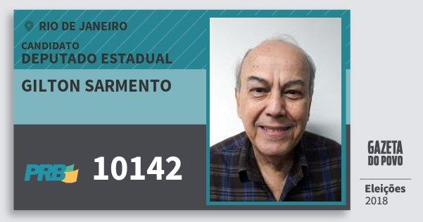 Santinho Gilton Sarmento 10142 (PRB) Deputado Estadual | Rio de Janeiro | Eleições 2018