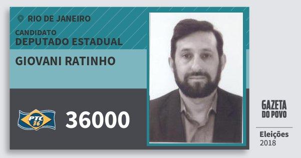 Santinho Giovani Ratinho 36000 (PTC) Deputado Estadual | Rio de Janeiro | Eleições 2018
