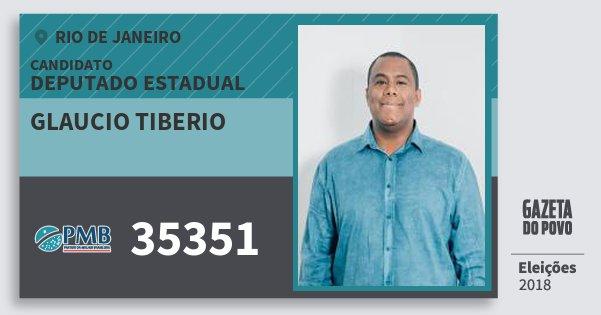Santinho Glaucio Tiberio 35351 (PMB) Deputado Estadual | Rio de Janeiro | Eleições 2018