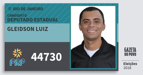 Santinho Gleidson Luiz 44730 (PRP) Deputado Estadual | Rio de Janeiro | Eleições 2018
