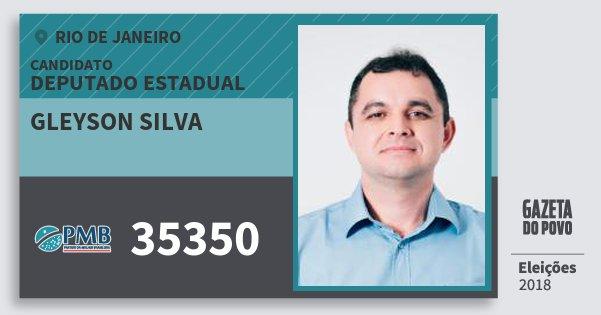 Santinho Gleyson Silva 35350 (PMB) Deputado Estadual | Rio de Janeiro | Eleições 2018