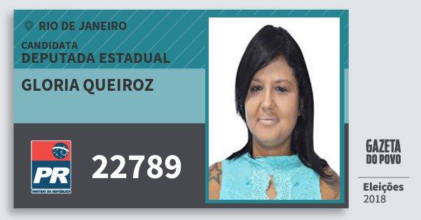 Santinho Gloria Queiroz 22789 (PR) Deputada Estadual | Rio de Janeiro | Eleições 2018