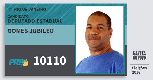 Santinho Gomes Jubileu 10110 (PRB) Deputado Estadual | Rio de Janeiro | Eleições 2018
